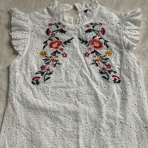 Women's Lace Embroidered top